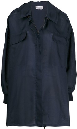 Gianfranco Ferré Pre-Owned Hooded Concealed Fastening Raincoat