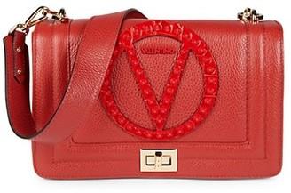 Valentino By Mario Valentino Alice Rock Pebbled-Leather Shoulder Bag