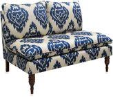 Skyline Furniture Armless Chaise in Diamond Blue