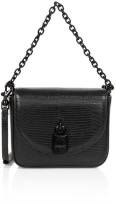 Rebecca Minkoff Micro Love Too Lizard-Embossed Leather Shoulder Bag