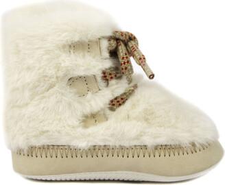 Hogan Baby Faux Fur Shoes