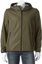 Levi's Men's Water-Resistant Bonded Ripstop Hooded Rain Jacket