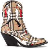 Burberry Matlock Cowboy Boots in Check | FWRD