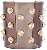 Fendi Acrylic Studded Cuff Bracelet