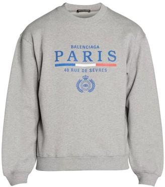 Balenciaga Paris Flag Logo Sweatshirt