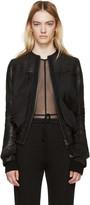 Haider Ackermann Black Leather Bomber Jacket