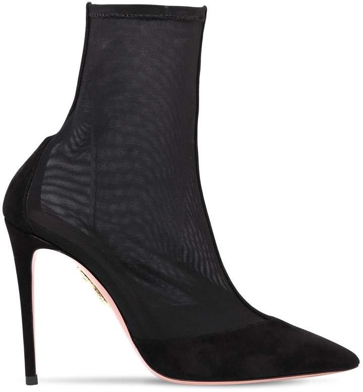 Aquazzura 105mm Hot Stuff Mesh Ankle Boots
