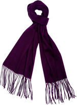 One Kings Lane Cashmere-Blend Waterweave Scarf, Violet