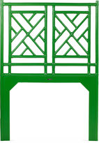 David Francis Furniture Chinese Chippendale Headboard, Green