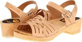 Swedish Hasbeens Women's Braided Low Flat Sandal