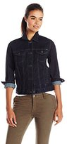 Lucky Brand Women's Classic Black Denim Jacket