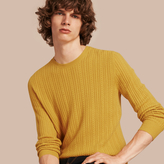 Burberry Aran Knit Cashmere Sweater , Size: Xs, Yellow