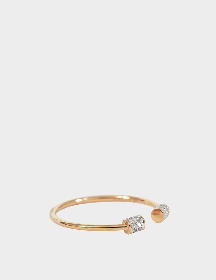 ginette_ny Single Diamond Choker 18-karat rose gold ring