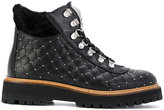 Philipp Plein quilted lace-up boots