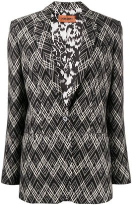 Missoni Chevron-Print Single-Breasted Blazer