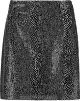 McQ by Alexander McQueen Coated-mesh mini skirt