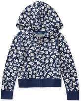 Ralph Lauren Floral-Print Full-Zip Hoodie, Toddler & Little Girls (2T-6X)