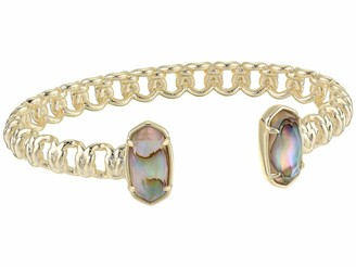 Kendra Scott Macrame Elton Cuff Bracelet in Blush Wood 14k Rose Gold-Plated