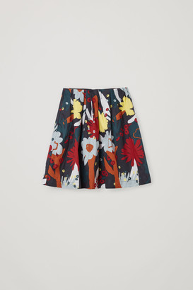 Cos Printed Cotton Skirt