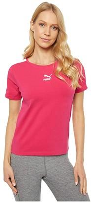 Puma Classics Tight Top (Deep Lichen Green) Women's T Shirt