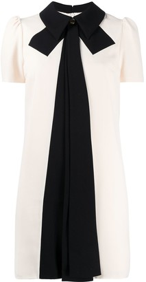 Elisabetta Franchi Contrasting Bow Mini Dress