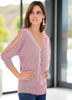 Together Bead Embellished Split Sleeve Sweater