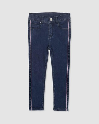 Milky Side Pipe Jeans - Kids