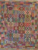 Arshs' Fine Rugs Kilim Arya Rona Flatweave Hand-Woven Wool Southwestern Rug