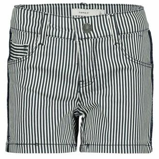 Name It Girl's Nkfsalli Twibatinna Stripe Shorts Cf