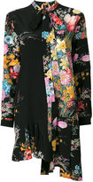 No.21 floral silk drop waist dress