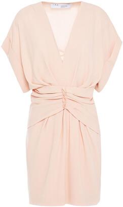 IRO Gastona Pleated Crepe Mini Dress