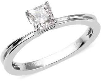 Shop Lc White Gold Diamond Solitaire Ring Size 9 Ct 0.5 H Color I3 Clarity