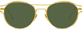 Linda Farrow Violet round frame sunglasses