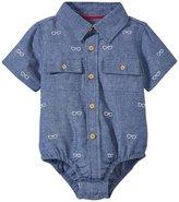 Andy & Evan Schiffli Cabana Shirtzie (Baby) - Navy 12-18 Months