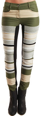 3.1 Phillip Lim Ponte Inset Skinny Jeans