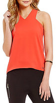 Armani Exchange V-Neck X Tank Blouse