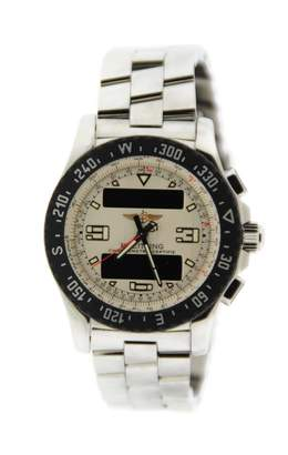 Breitling White Steel Watches