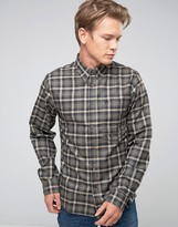Fjäll Räven Shirt In Check Flannel Slim Fit Black