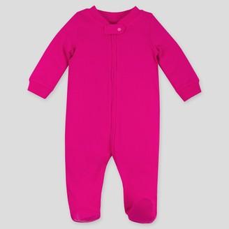 Lamaze Baby Girls' Thermal Organic Cotton Sleep N' Play Union Suit -
