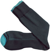 Johnston & Murphy First In Comfort Contrast Tipped Pin Dot Socks