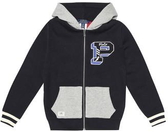 Polo Ralph Lauren Kids Reversible cotton jersey hoodie