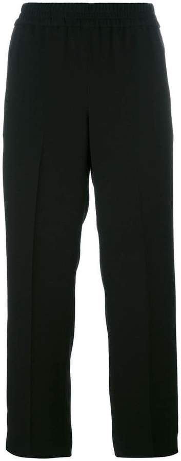 Tory Burch elasticated waist cropped trousers