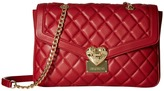 Love Moschino Quilted Shoulder Bag with Chain Shoulder Handbags
