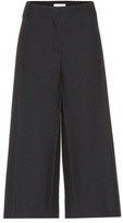 Valentino Cropped virgin wool and silk trousers