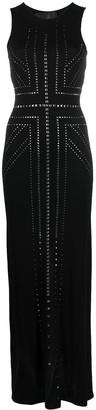 John Richmond long Darsey stud-embellished dress