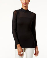 INC International Concepts Mock-Turtleneck Illusion Top, Created for Macy's