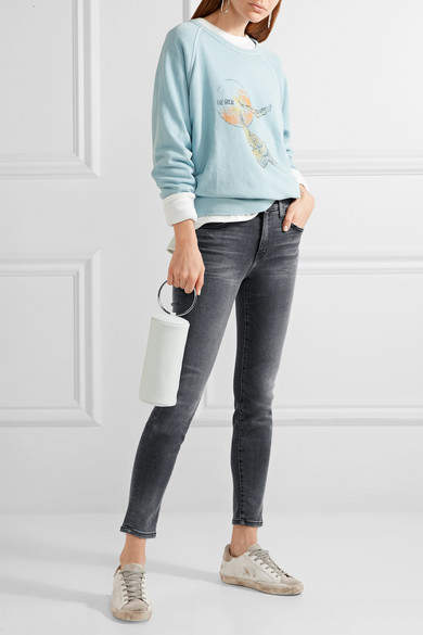 Current/Elliott The High Waist Ankle Skinny Jeans - Gray