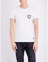 Philipp Plein Badge-detail Pure-cotton T-shirt