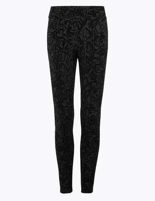 M&S CollectionMarks and Spencer Snake Print Ankle Grazer Leggings