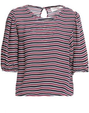 American Vintage Gathered Striped Twill Top